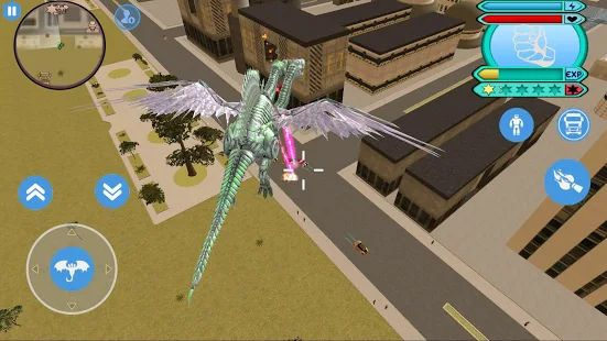 Скачать Flying Dragon Robot Transform Vice Town (Без Рекламы) на Андроид - Версия 1.0 apk